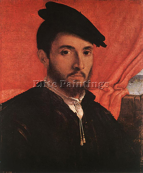 LORENZO LOTTO PORTRAIT OF A YOUNG MAN C1526 ARTIST PAINTING HANDMADE OIL CANVAS