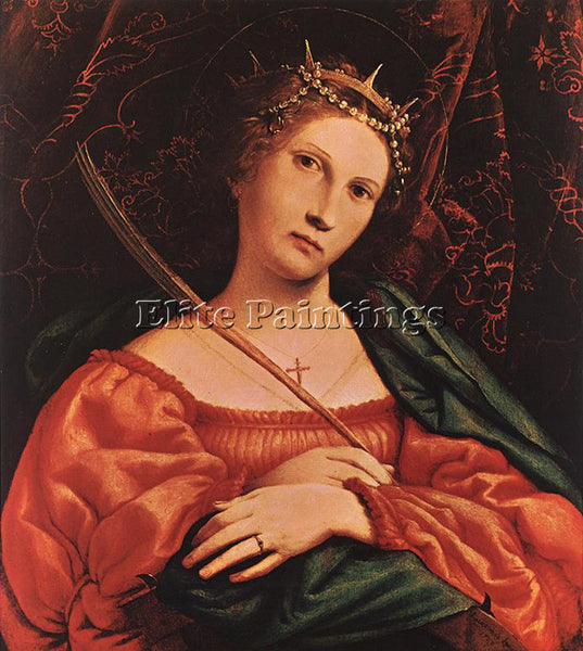 LORENZO LOTTO ST CATHERINE OF ALEXANDRIA 1522 ARTIST PAINTING REPRODUCTION OIL
