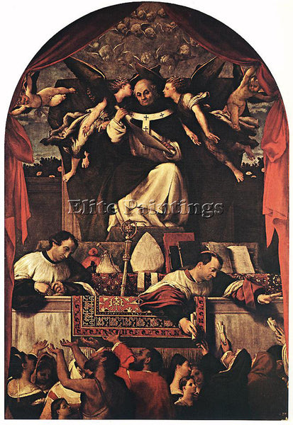 LORENZO LOTTO THE ALMS OF ST ANTHONY 1542 ARTIST PAINTING REPRODUCTION HANDMADE