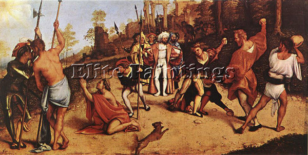 LORENZO LOTTO THE MARTYRDOM OF ST STEPHEN 1516 ARTIST PAINTING REPRODUCTION OIL