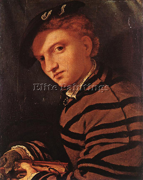 LORENZO LOTTO YOUNG MAN WITH BOOK 1525 6 ARTIST PAINTING REPRODUCTION HANDMADE