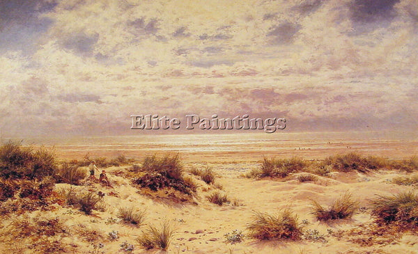 BENJAMIN WILLIAMS LEADER LOW TIDE ON THE SOUTH COAST ARTIST PAINTING HANDMADE