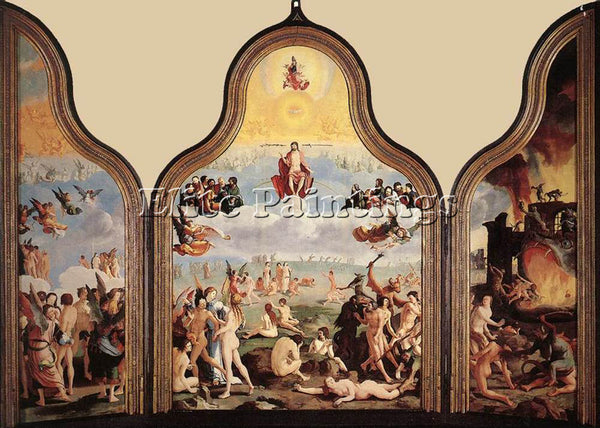 LUCAS VAN LEYDEN THE LAST JUDGMENT ARTIST PAINTING REPRODUCTION HANDMADE OIL ART