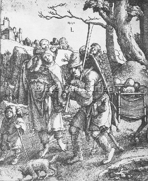 LUCAS VAN LEYDEN WANDERING BEGGARS ARTIST PAINTING REPRODUCTION HANDMADE OIL ART