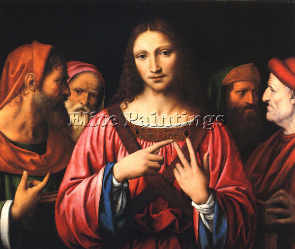 BERNARDINO LUINI CHRIST AMONG THE DOCTORS ARTIST PAINTING REPRODUCTION HANDMADE
