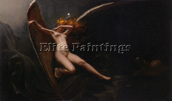 LUIS RICARDO FALERO  A FAIRY UNDER STARRY SKIES  ARTIST PAINTING HANDMADE CANVAS