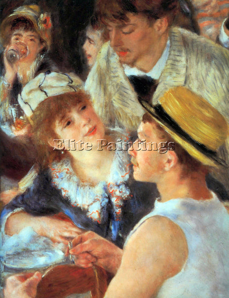 RENOIR LUNCH ON THE BOAT PARTY DETAIL ARTIST PAINTING REPRODUCTION HANDMADE OIL