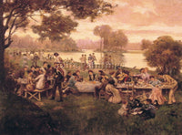 DENMARK LUNCHEON ON THE GRASS ARTIST PAINTING REPRODUCTION HANDMADE CANVAS REPRO