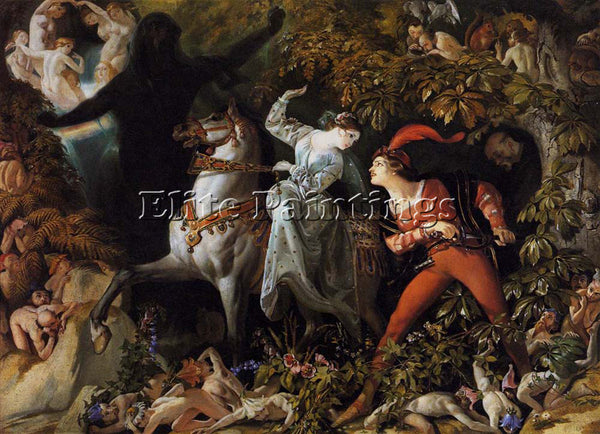 DANIEL MACLISE MACLISE DANIEL A SCENE FROM UNDINE ARTIST PAINTING REPRODUCTION