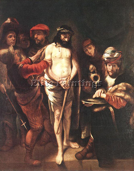 NICOLAES MAES CHRIST BEFORE PILATE ARTIST PAINTING REPRODUCTION HANDMADE OIL ART
