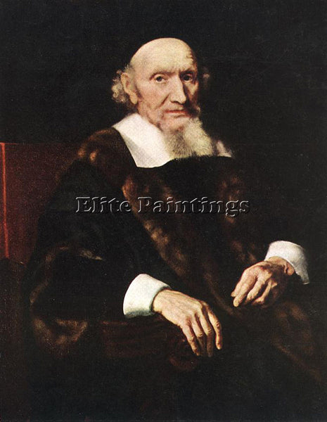NICOLAES MAES PORTRAIT OF JACOB TRIP ARTIST PAINTING REPRODUCTION HANDMADE OIL