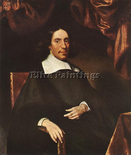 NICOLAES MAES PORTRAIT OF JUSTUS CRIEX ARTIST PAINTING REPRODUCTION HANDMADE OIL