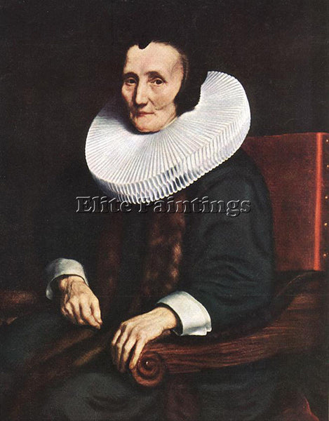 NICOLAES MAES PORTRAIT OF MARGARETHA DE GEER WIFE OF JACOB TRIP ARTIST PAINTING