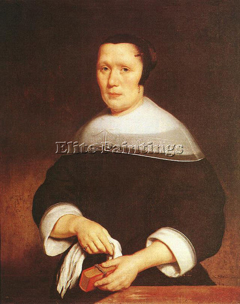 NICOLAES MAES PORTRAIT OF A WOMAN ARTIST PAINTING REPRODUCTION HANDMADE OIL DECO