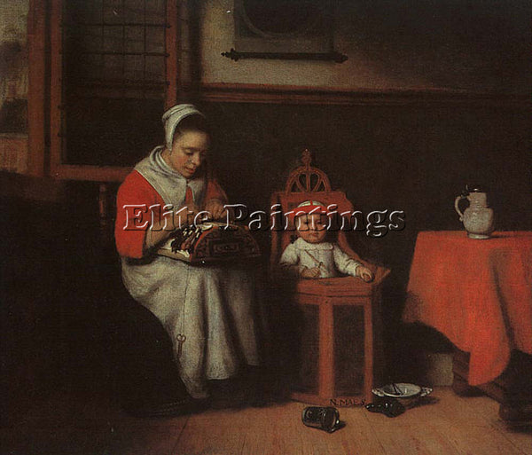 NICOLAES MAES THE LACEMAKER ARTIST PAINTING REPRODUCTION HANDMADE OIL CANVAS ART