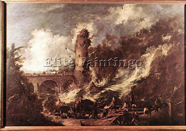 ALESSANDRO MAGNASCO STORM AT THE SEA ARTIST PAINTING REPRODUCTION HANDMADE OIL