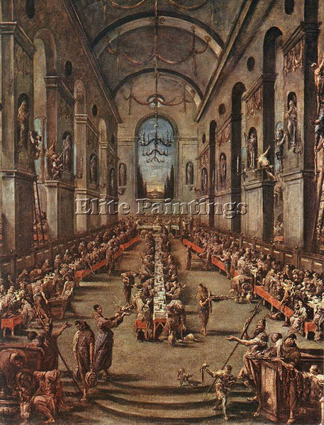ALESSANDRO MAGNASCO THE OBSERVANT FRIARS IN THE REFECTORY ARTIST PAINTING CANVAS