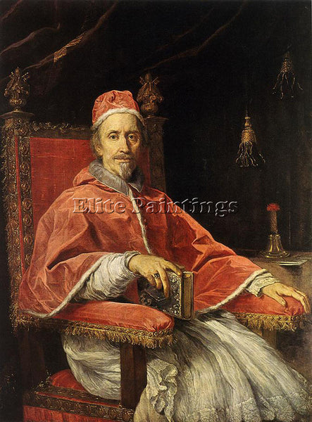 CARLO MARATTI PORTRAIT OF POPE CLEMENT IX ARTIST PAINTING REPRODUCTION HANDMADE