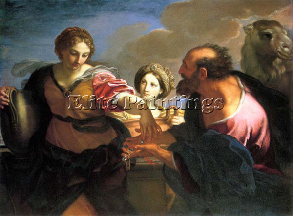 CARLO MARATTI REBECCA AND ELIEZER AT THE WELL ARTIST PAINTING REPRODUCTION OIL