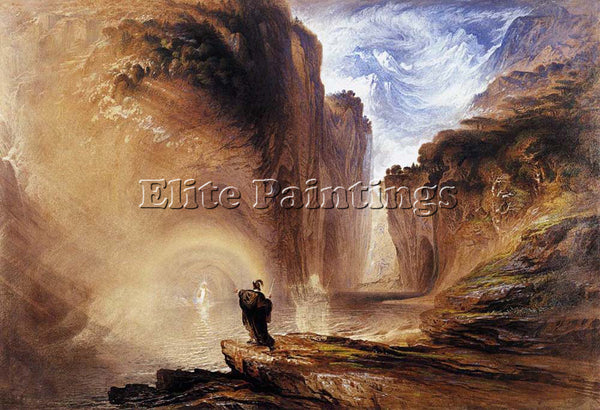 JOHN MARTIN MANFRED AND THE ALPINE WITCH ARTIST PAINTING REPRODUCTION HANDMADE