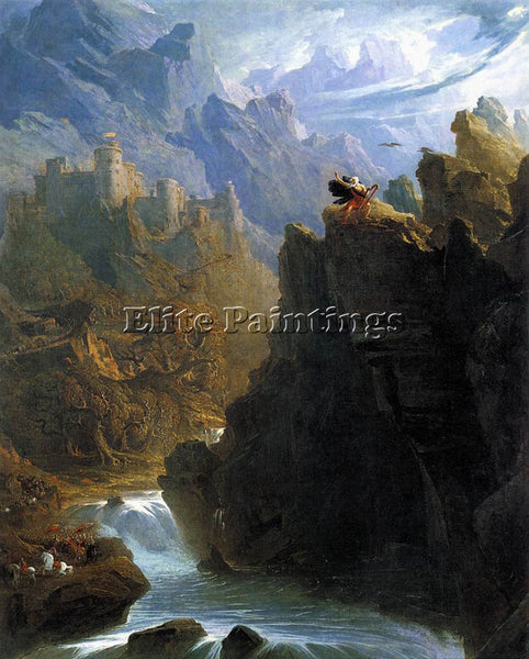 JOHN MARTIN THE BARD ARTIST PAINTING REPRODUCTION HANDMADE OIL CANVAS REPRO WALL