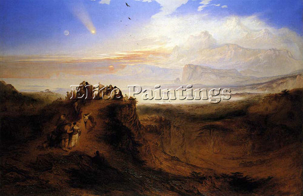 JOHN MARTIN THE EVE OF THE DELUGE ARTIST PAINTING REPRODUCTION HANDMADE OIL DECO