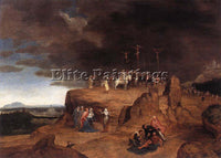 BELGIAN MASSYS CORNELIS CRUCIFIXION ARTIST PAINTING REPRODUCTION HANDMADE OIL