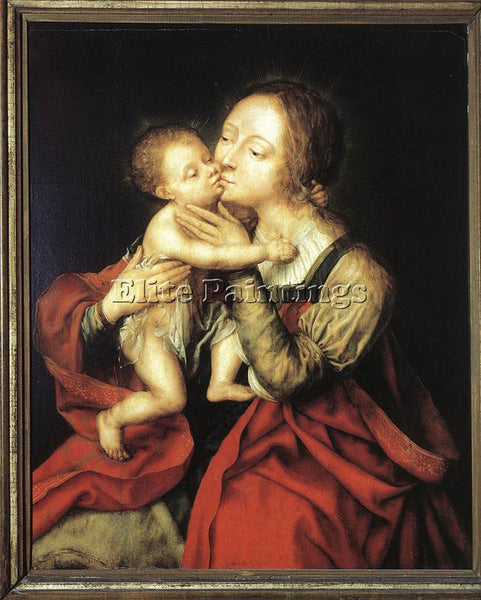 JAN MASSYS HOLY VIRGIN AND CHILD ARTIST PAINTING REPRODUCTION HANDMADE OIL REPRO
