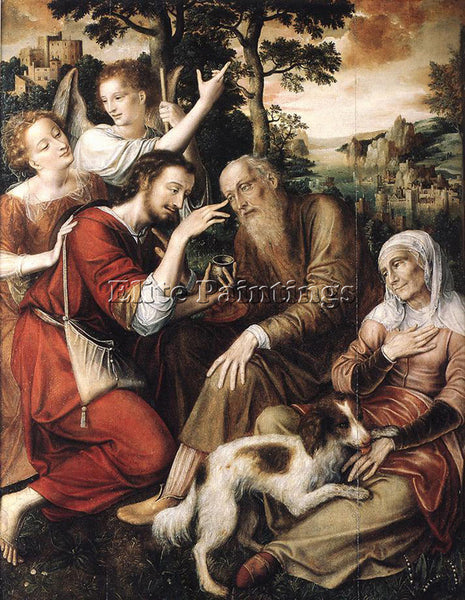 JAN MASSYS THE HEALING OF TOBIT ARTIST PAINTING REPRODUCTION HANDMADE OIL CANVAS