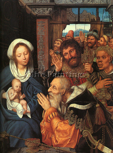 QUENTIN MASSYS ADORATION OF THE MAGI ARTIST PAINTING REPRODUCTION HANDMADE OIL
