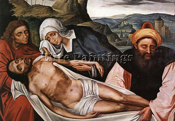 QUENTIN MASSYS ENTOMBMENT ARTIST PAINTING REPRODUCTION HANDMADE OIL CANVAS REPRO