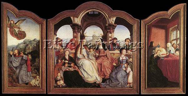 QUENTIN MASSYS ST ANNE ALTARPIECE ARTIST PAINTING REPRODUCTION HANDMADE OIL DECO