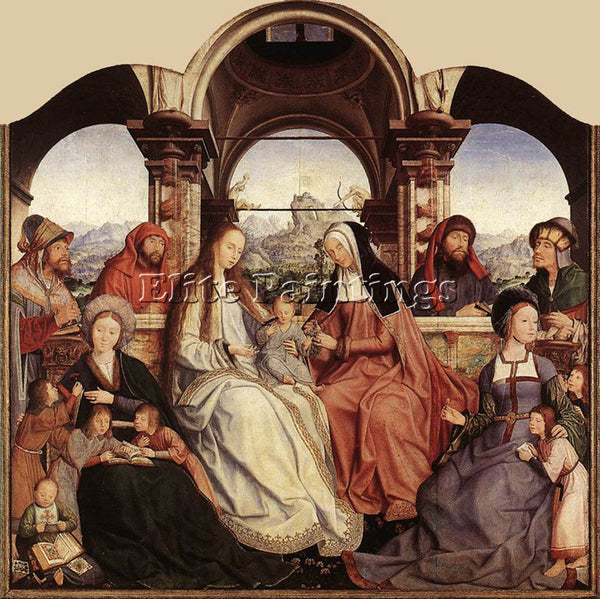 QUENTIN MASSYS ST ANNE ALTARPIECE CENTRAL PANEL ARTIST PAINTING REPRODUCTION OIL