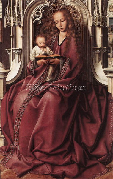 QUENTIN MASSYS VIRGIN AND CHILD 2 ARTIST PAINTING REPRODUCTION HANDMADE OIL DECO