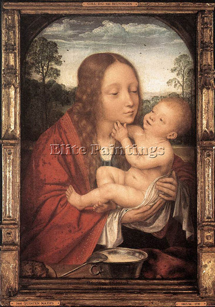 QUENTIN MASSYS VIRGIN AND CHILD IN A LANDSCAPE ARTIST PAINTING REPRODUCTION OIL