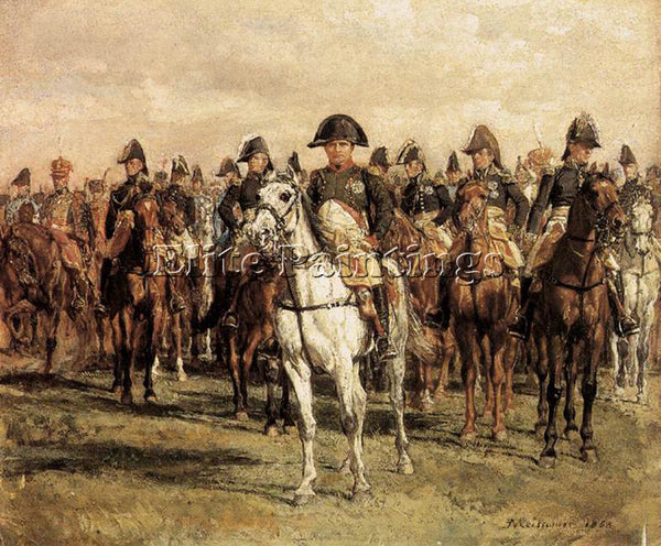 JEAN-LOUIS ERNEST MEISSONIER NAPOLEON AND HIS STAFF ARTIST PAINTING REPRODUCTION
