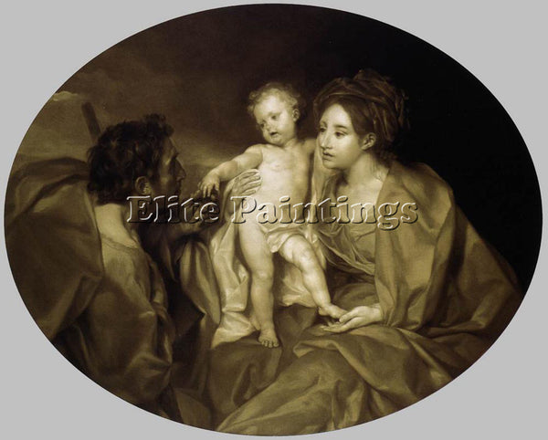 ANTON RAPHAEL MENGS THE HOLY FAMILY 1 ARTIST PAINTING REPRODUCTION HANDMADE OIL