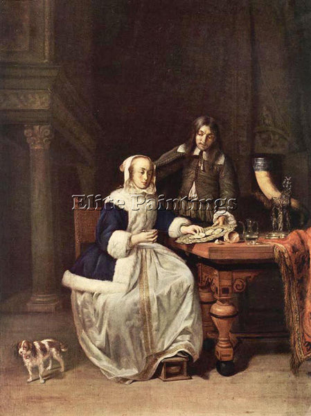 GABRIEL METSU BREAKFAST 1 ARTIST PAINTING REPRODUCTION HANDMADE OIL CANVAS REPRO