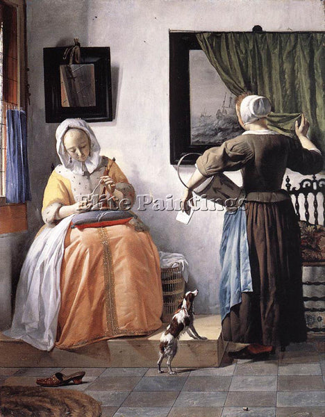 GABRIEL METSU WOMAN READING A LETTER 1 ARTIST PAINTING REPRODUCTION HANDMADE OIL