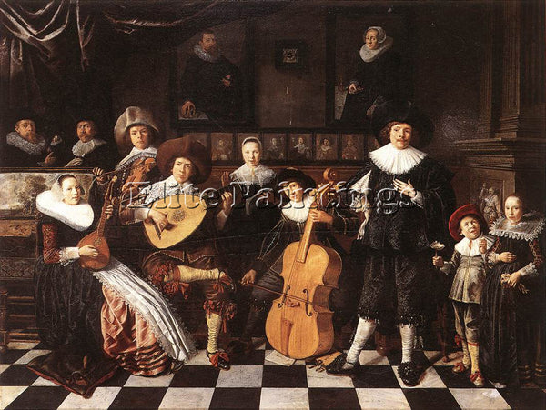JAN MIENSE MOLENAER FAMILY MAKING MUSIC ARTIST PAINTING REPRODUCTION HANDMADE