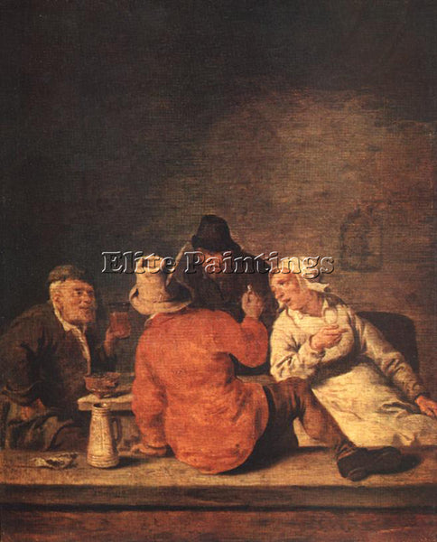 JAN MIENSE MOLENAER PEASANTS IN THE TAVERN ARTIST PAINTING REPRODUCTION HANDMADE