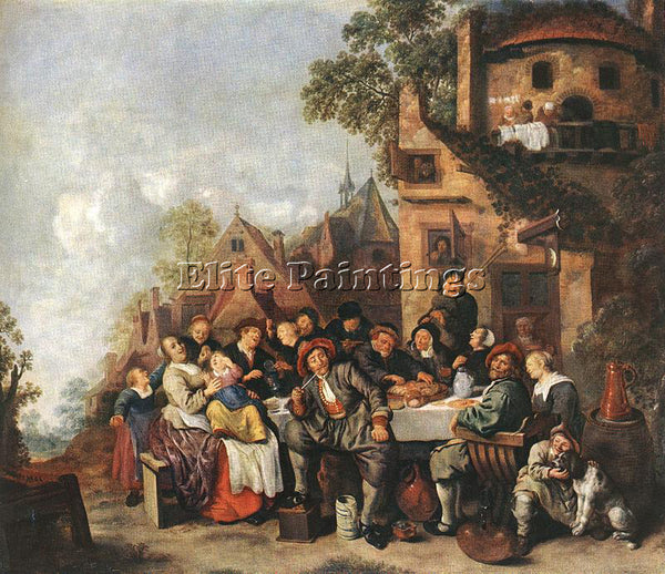 JAN MIENSE MOLENAER TAVERN OF THE CRESCENT MOON ARTIST PAINTING REPRODUCTION OIL