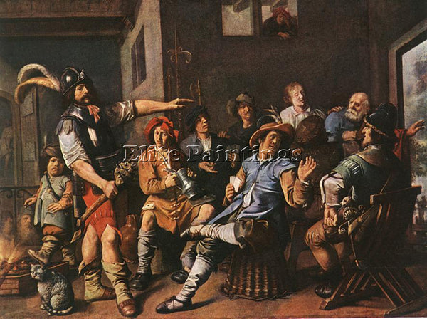 JAN MIENSE MOLENAER THE DENYING OF PETER ARTIST PAINTING REPRODUCTION HANDMADE