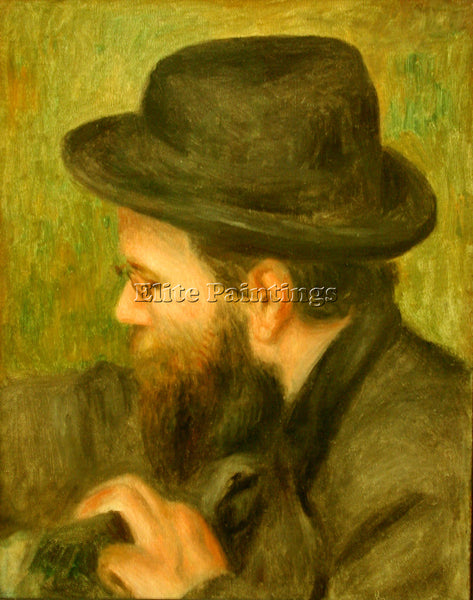 RENOIR M BERNARD MAN WITH THE BLACK HAT ARTIST PAINTING REPRODUCTION HANDMADE