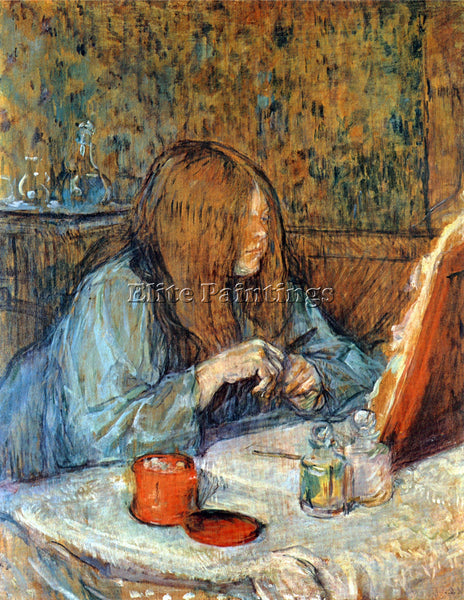 TOULOUSE-LAUTREC MADAM POUPOULE ON THE TOILET 2 ARTIST PAINTING REPRODUCTION OIL