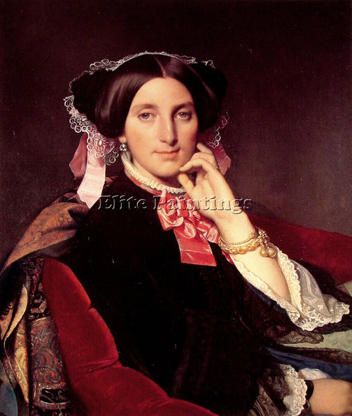 JEAN-AUGUSTE DOMINIQUE INGRES MADAME HENRI GONSE ARTIST PAINTING HANDMADE CANVAS