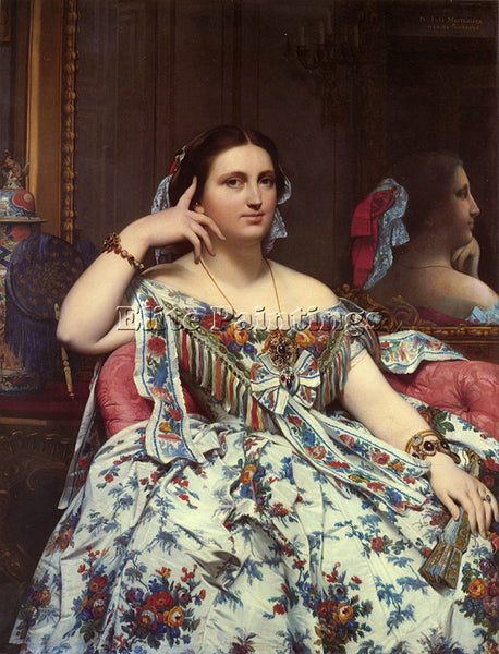 JEAN AUGUSTE DOMINIQUE INGRES MADAME PAUL SIGISBERT MOITESSIER SEATED ARTIST OIL