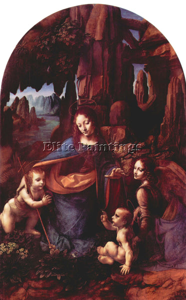 LEONARDO DA VINCI MADONNA IN THE ROCK CAVE ARTIST PAINTING REPRODUCTION HANDMADE