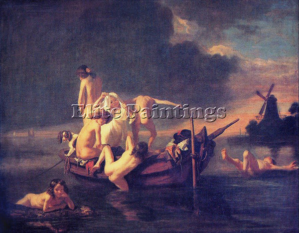 NICOLAES MAES BATHING ARTIST PAINTING REPRODUCTION HANDMADE OIL CANVAS REPRO ART