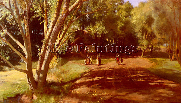 KONSTANTIN MAKOVSKY JEGOROVICH SUMMER AFTERNOON ARTIST PAINTING REPRODUCTION OIL